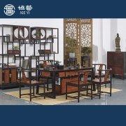 新中式家具印尼黑檀茶